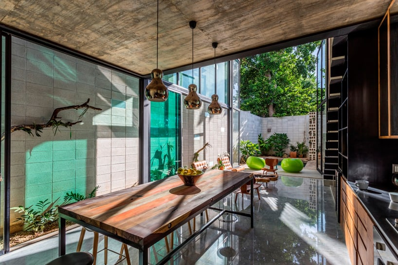 Raw House Is Made With Readily Available Locally Sourced Materials Such As  Concrete, Cement Block, Metal Fittings And Glass, All Left Exposed To  Highlight ...