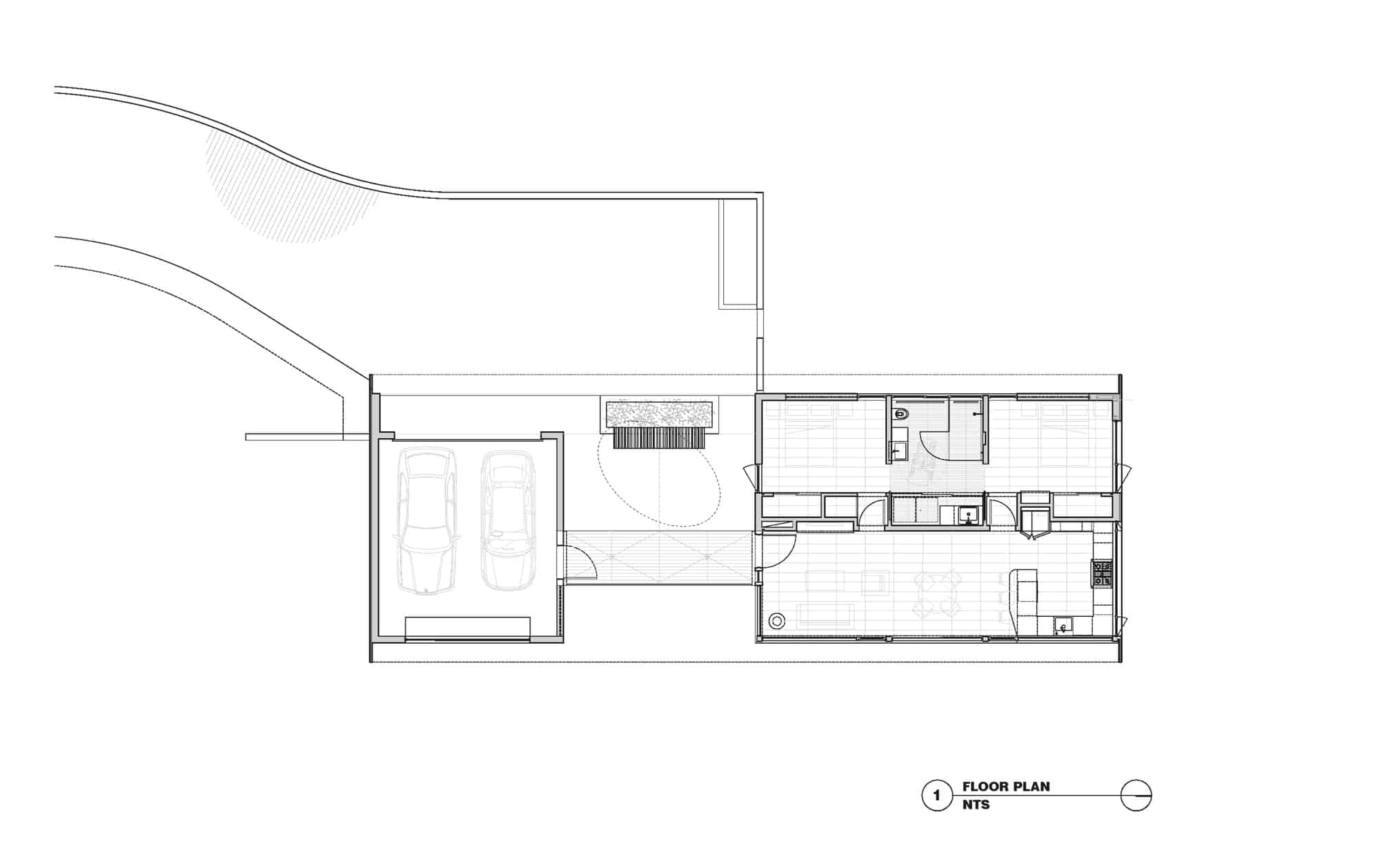 Gorgeous house for mobility impaired cantilevers over for Steep slope house plans