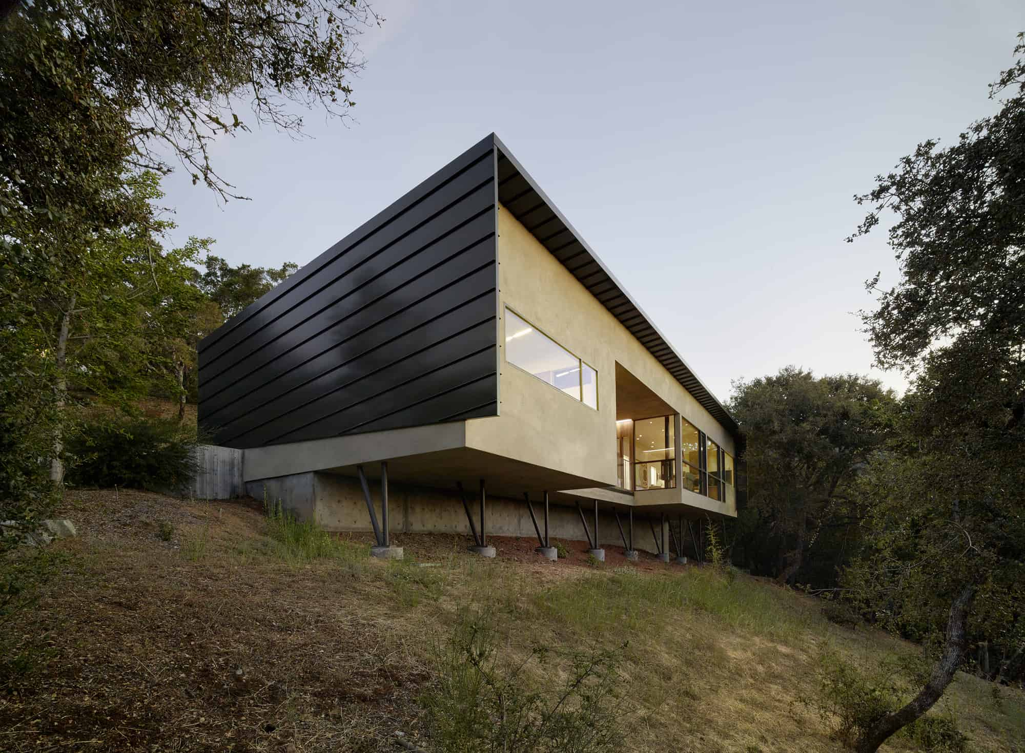 Gorgeous House for Mobility Impaired Cantilevers over Steep Slope
