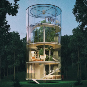 Tubular Glass House Gets Second Life from Solar Panel Manufacturer