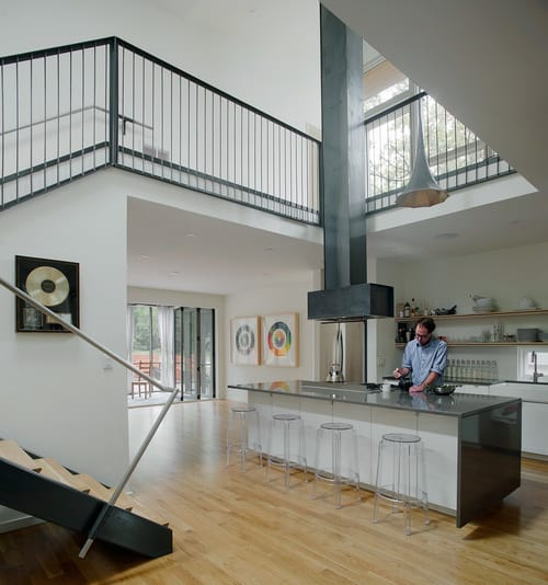 Home With 2 Storey Kitchen Creates Drama At Mezzanine Level