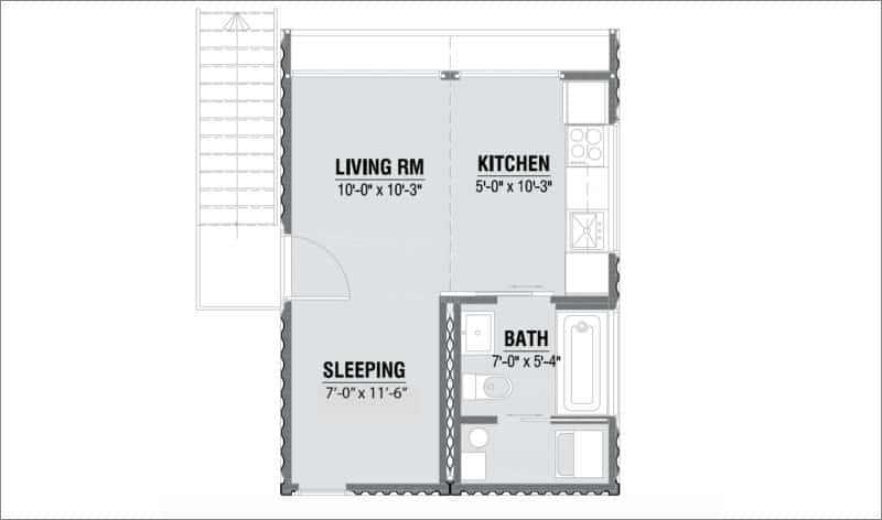 The Efficient Layout Of 352sqft HO2 Makes Space Feel Larger Then It Actually Is