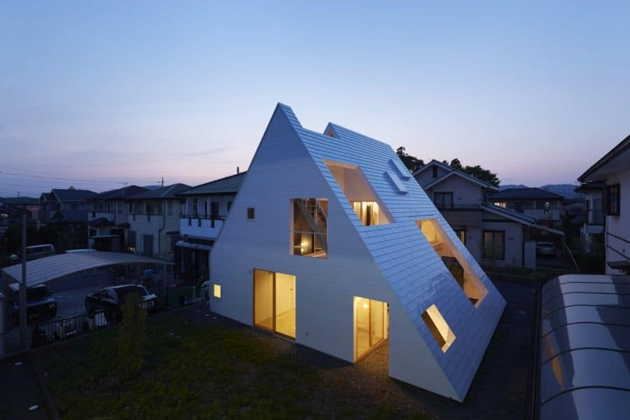 This Japanese Version Of An A Frame Houses Both Indoor And Outdoor Areas
