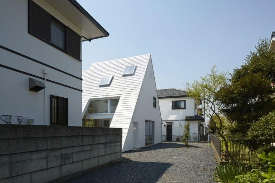 This Japanese Version of an A-Frame Houses Both Indoor and Outdoor Areas