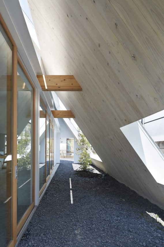 This Japanese Version Of An A Frame Houses Both Indoor And