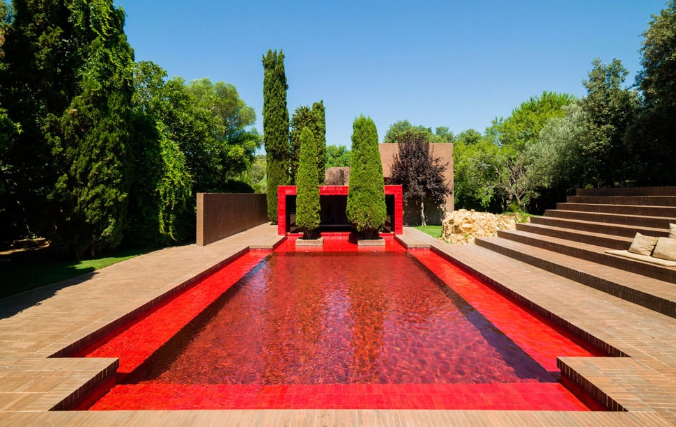 A Summer House with the Red Pool