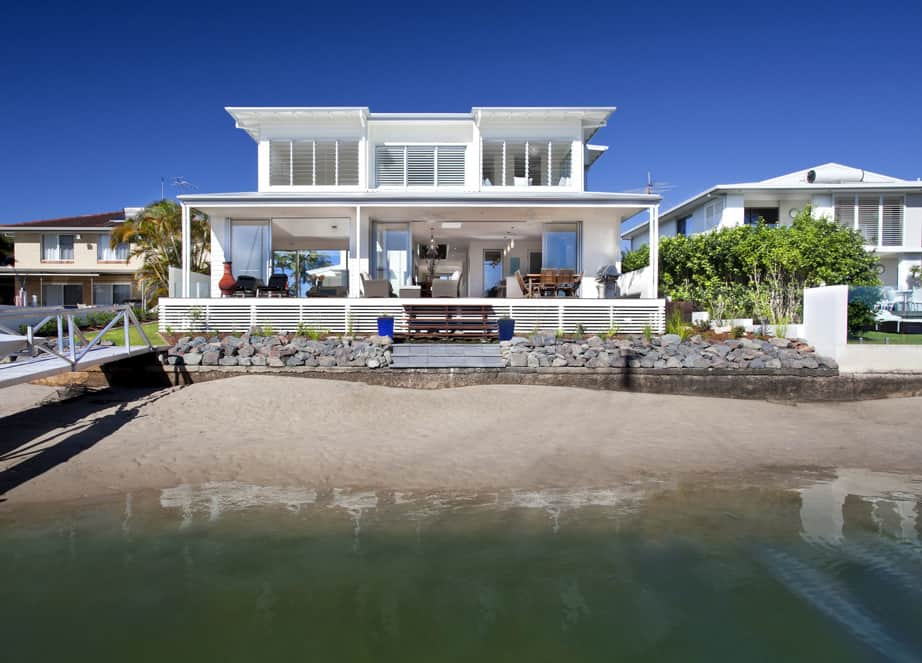 view in gallery airy beachfront home with contemporary casual style 1 thumb 630x453 10541 airy beachfront home with contemporary - Modern Waterfront Home Designs