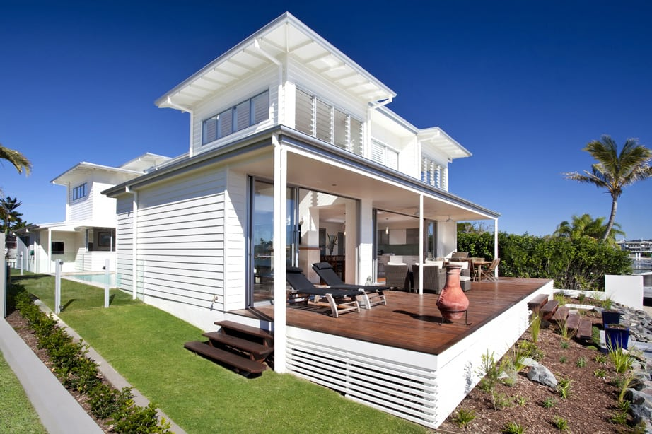 Airy beachfront home with contemporary casual style for Beachfront house plans