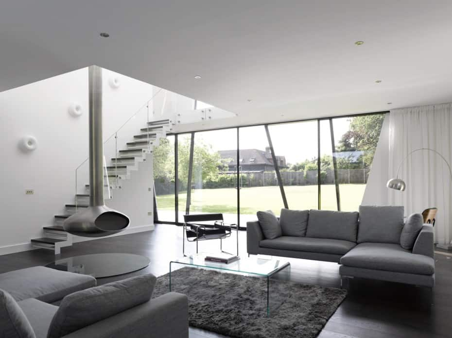 View in gallery angular-lines-greyscale-color-define-british-abode-8-.  Decor in the living room ...