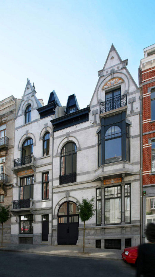 Art Nouveau House Plans In Brussels Belgium