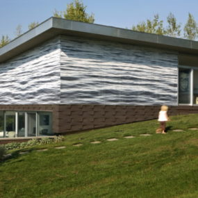 Art and Architecture Come Home to Contemporary ArtScreen Box House in Ghent, New York