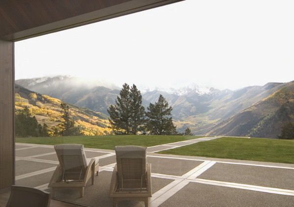 aspen house 7 Eco Friendly Mountain Cabin on Wildcat Ridge in Aspen   extreme design