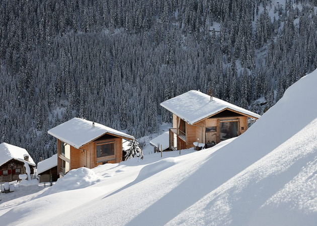 charming wood cabins swiss vals 10 thumb 630x450 8665 Charming Wood Cabins in Swiss village of Leis in Vals