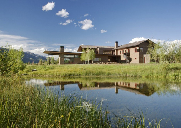 modern home on the range 1 thumb 630x446 10252 One of a Kind Home Design in Traditional Disguise