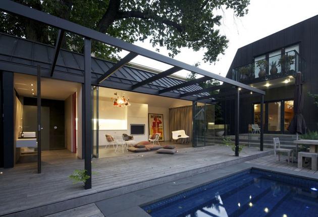 posh pool house with glass walls 1 thumb 630x430 10939 Posh pool house with glass walls
