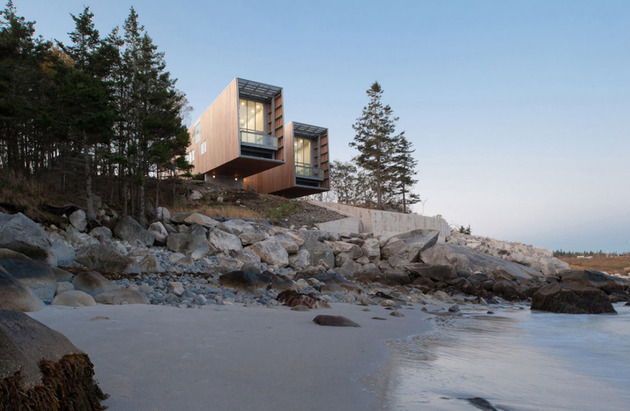 boat inspired wood house hanging over the ocean 1 thumb 630x411 13022 Boat inspired wood house hanging over the ocean