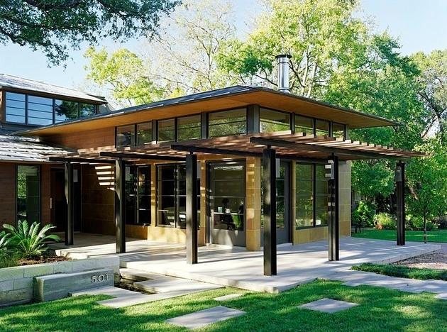 balinese influenced modern texas home zen atmosphere 1 entrance thumb 630x468 17427 Balinese Influenced Modern Texas Home With Zen Atmosphere