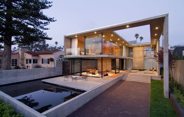 concrete residential architecture designed spacious 1 outdoor living thumb 630x403 17363 Concrete Residential Architecture designed to feel Spacious