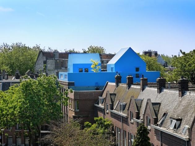 going vertical rooftop village rotterdam far view thumb 630x472 15969 Going Vertical With A Rooftop Village Addition In Rotterdam