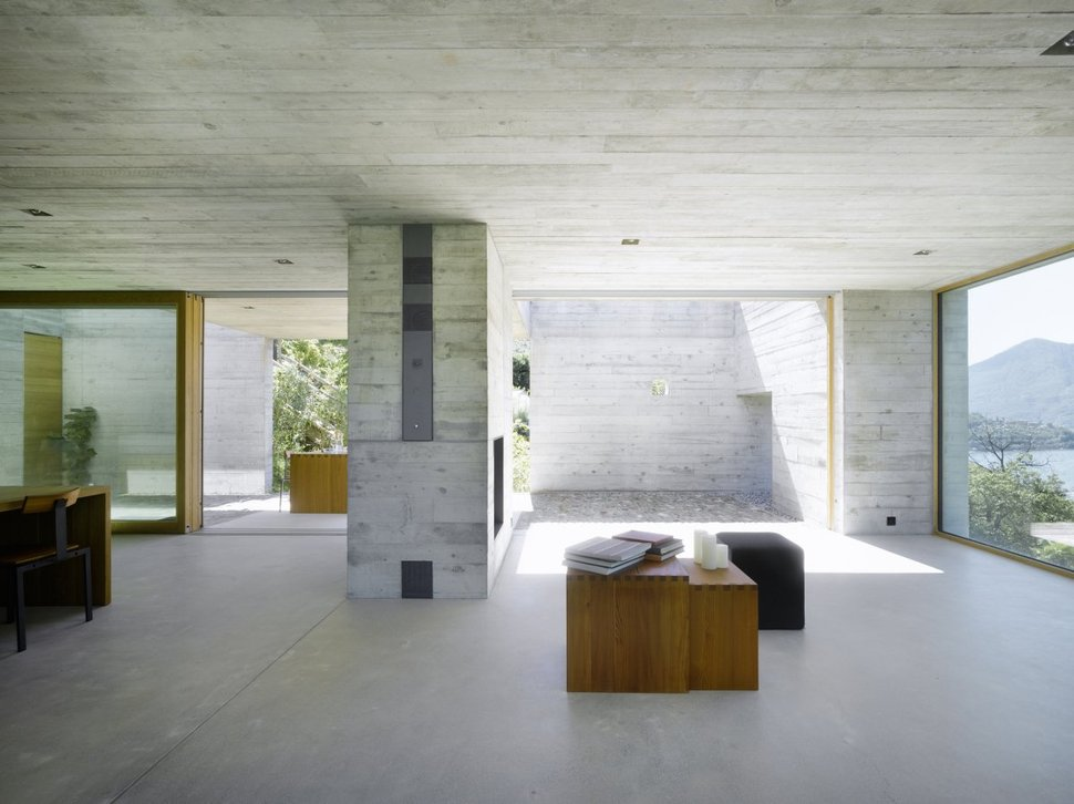 minimalist concrete home showcases stunning views and. Black Bedroom Furniture Sets. Home Design Ideas