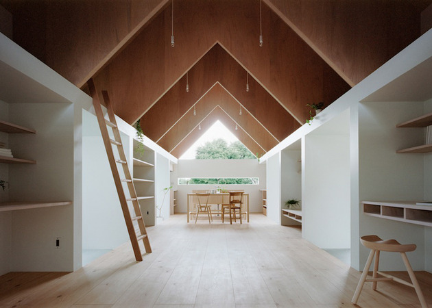minimal extension adds chic usable space japanese home 8 long view back thumb 630x450 16791 Minimal Extension Adds Chic Usable Space To Japanese Home