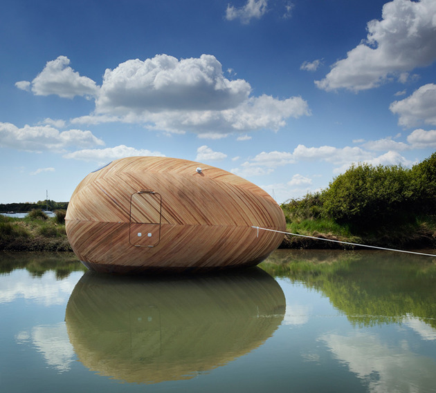 mobile aquatic home minimal living reflection thumb 630x569 15282 A Mobile Aquatic Pod Home For Ultra Minimal Living