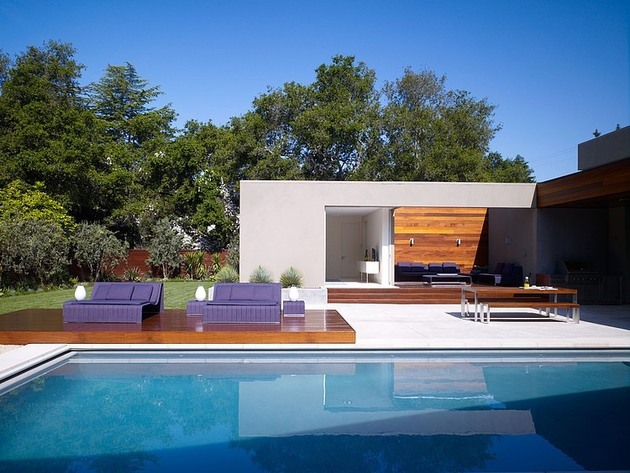 moden u shaped residence with central patio 2 thumb 630x473 17492 Modern U Shaped California Home with Central Patio