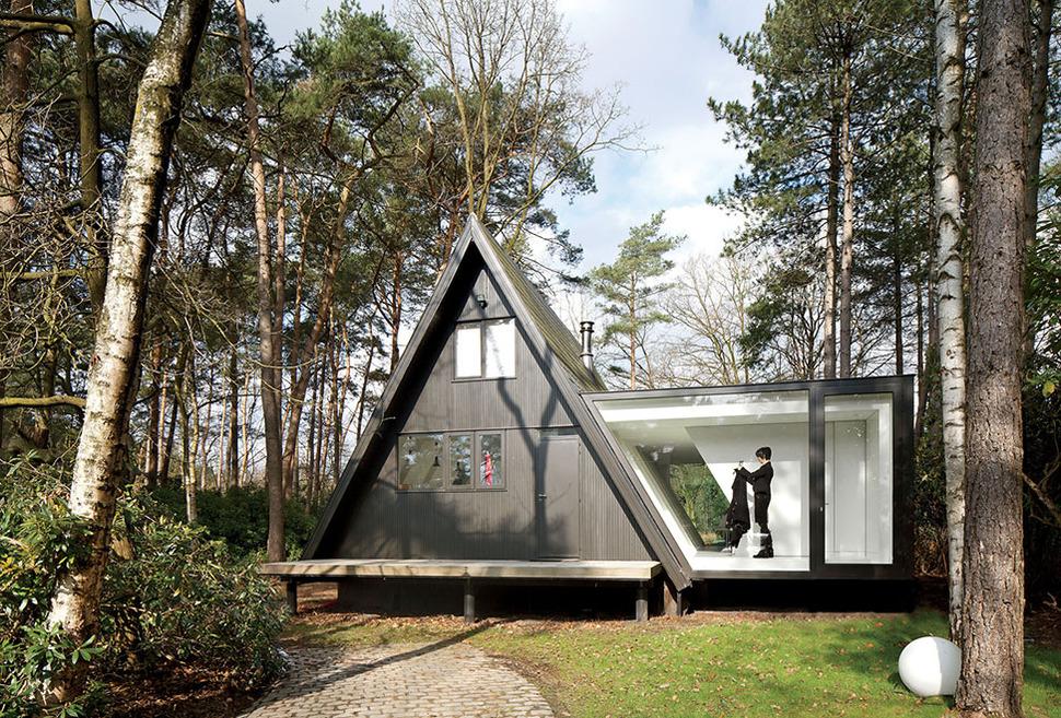 A Frame Summer Cabin Gets Glass Addition