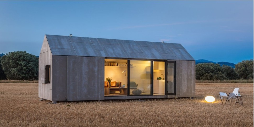 Modern prefab home for two from spanish architecture firm for Architect designed modular homes