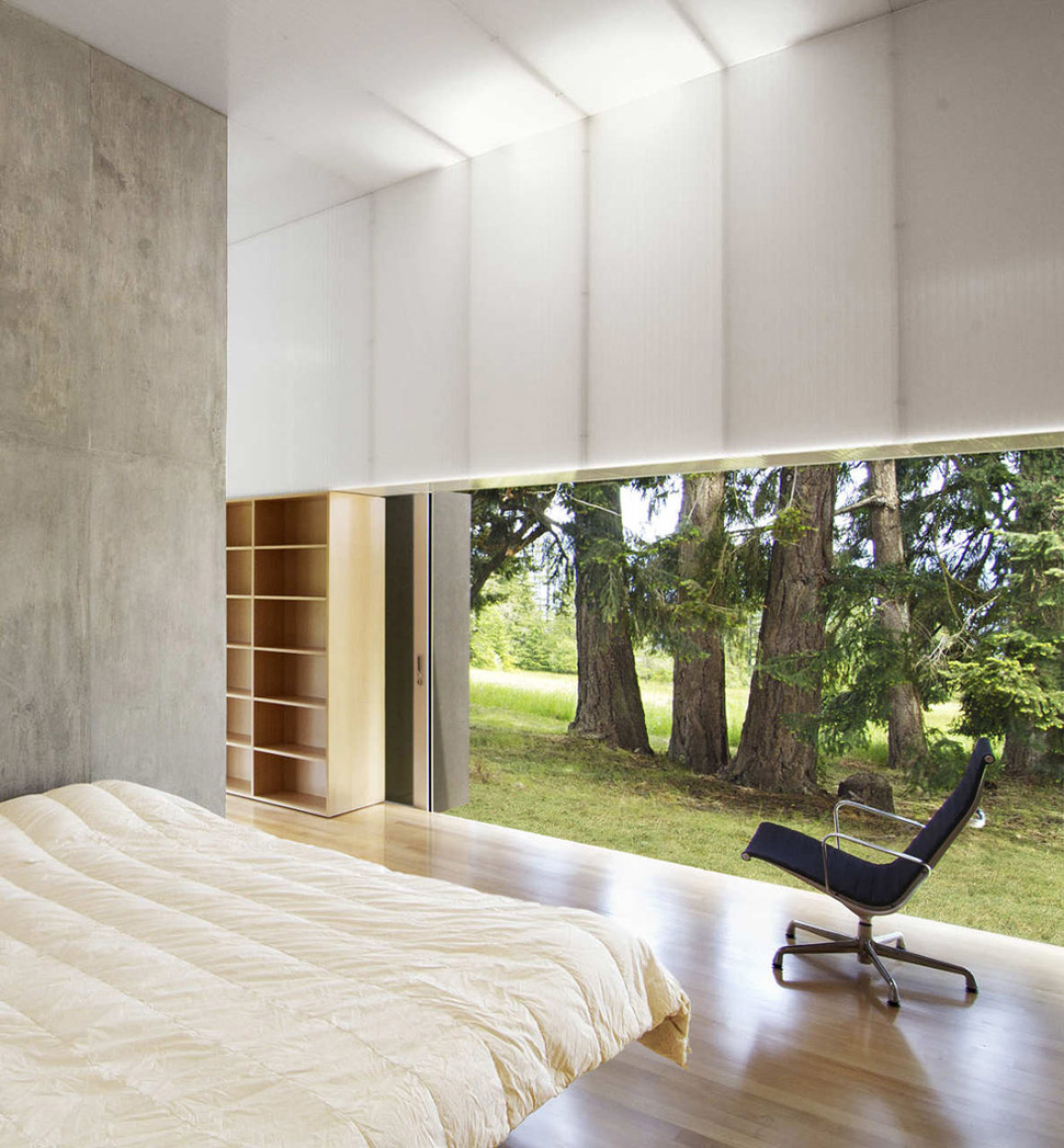 View In Gallery Unusual Linear House With Open Breezeway And Luminous