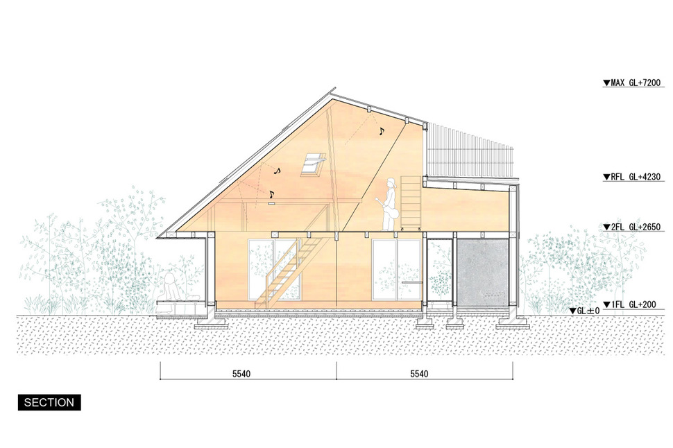 Superb View In Gallery Compact Diamond Shaped House Plan Yuji Tanabe 20