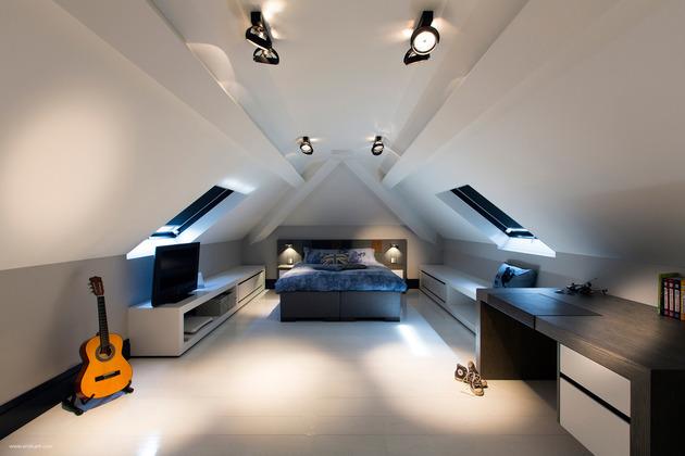 custom details create visual feast minimalist home 1 attic bedroom thumb 630x420 19607 Custom Details Create a Visual Feast in Minimalist Home