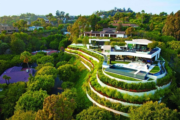 extravagant contemporary beverly hills mansion with creatively luxurious details 1 full thumb 630x420 22265 Extravagant Contemporary Beverly Hills Mansion With Creatively Luxurious Details