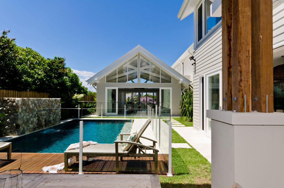 view in gallery large spaces poolside living contemporary seaside home 3