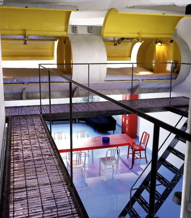 modern-loft-of-transformed-tankers-and-fire-escape-stairs-5.jpg