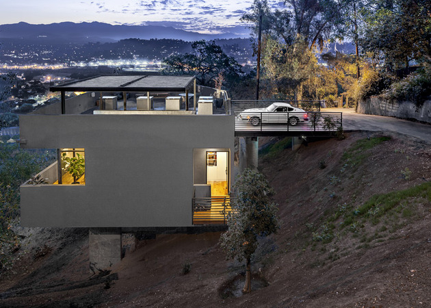 relaxing hillside echo park home rooftop carport 1 main side view thumb 630x450 20576 Relaxing Hillside Echo Park Home With Rooftop Carport