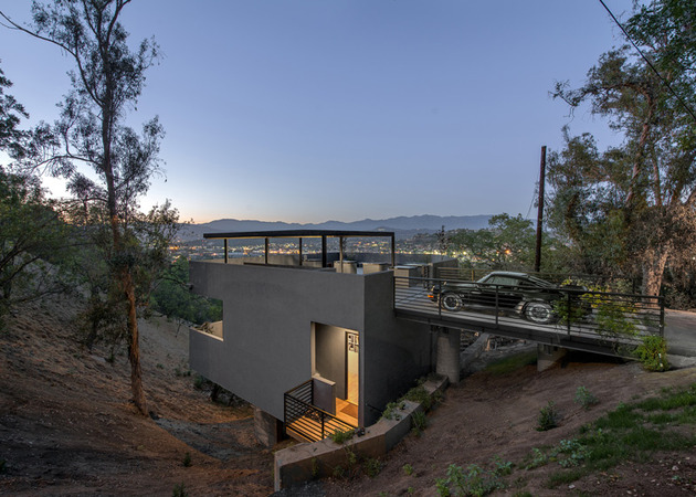 relaxing hillside echo park home rooftop carport 2 top angle view thumb 630x450 20578 Relaxing Hillside Echo Park Home With Rooftop Carport