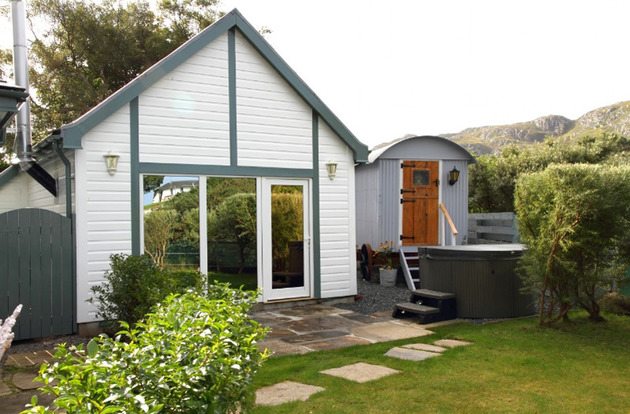 scotland riverfront resort transforms boat house and shepherd hut 1 thumb 630x414 20449 Scotland Riverfront Resort Transforms Boat House and Shepherd Hut