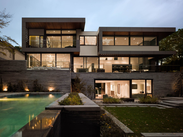 stunning details large open spaces define toronto home 1 thumb 630x472 18646 Stunning Toronto Home with an Arty Staircase and a Comfy Office