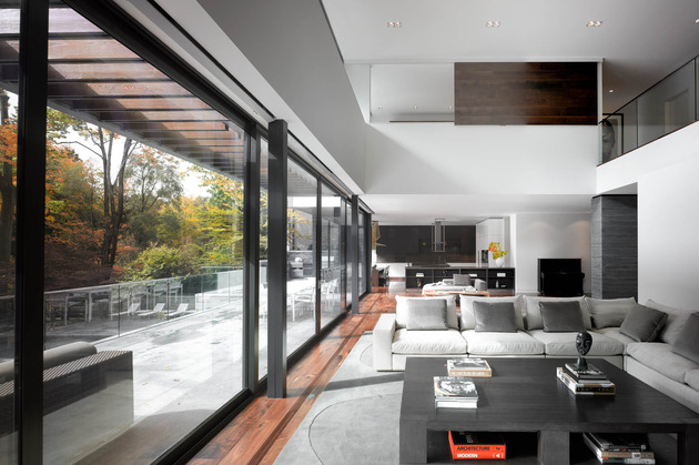 stunning details large open spaces define toronto home 2 living thumb 630x419 18648 Stunning Toronto Home with an Arty Staircase and a Comfy Office