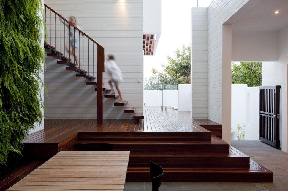 Stunningly Reinvented Australian Home Features Towering Indoor Outdoor Courtyard