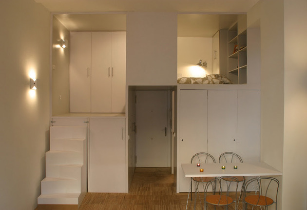 super compact dadrid apartment with soothingly smooth finishes 1 everything closed thumb 630x430 22715 Super Compact Apartment in Madrid