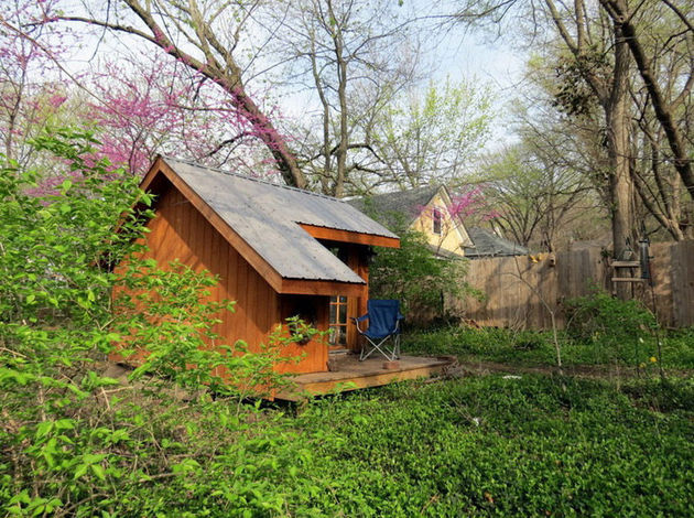 tiny house backyard sanctuary missouri 2 setting thumb 630x470 19330 Tiny House   A Backyard Sanctuary in Missouri