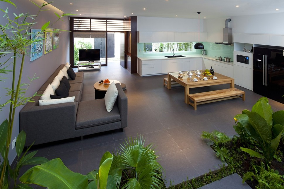 Charming View In Gallery Urban Vietnamese House Combined Space Indoor Garden 7