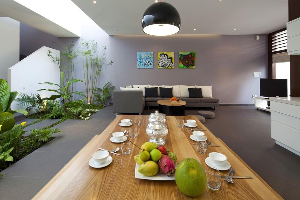 Urban Vietnamese House Garden Kitchen Dining And Living