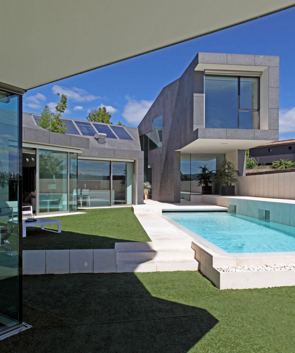 View In Gallery Barcelona House With Imposing Exterior And Sweet Central