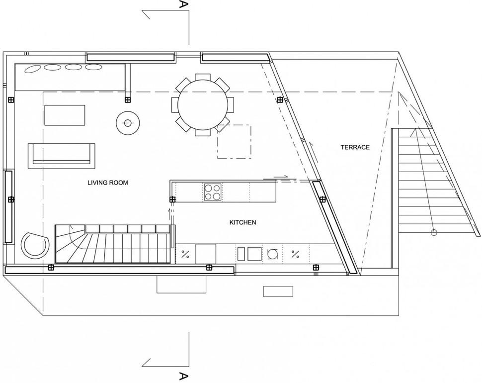 Geometric Norwegian House With Creative Interior Fixtures