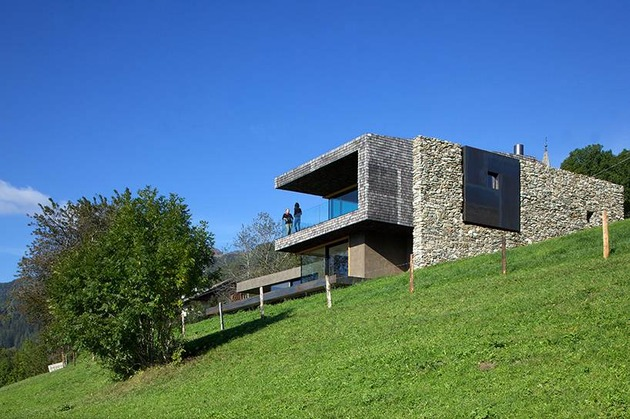 home with sauna green roof 1 below angle thumb 630x419 25011 Home With Sauna And Green Roof