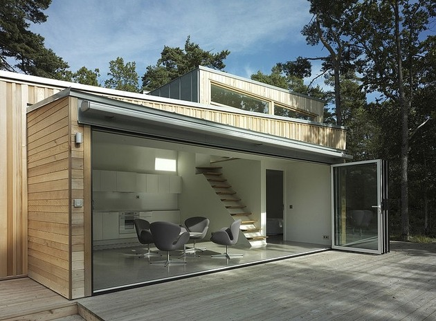 low impact no waste swedish house built sustainable wood lots 1 facade thumb 630x464 22878 Low Impact   No Waste Swedish House Built Using Sustainable Wood lots