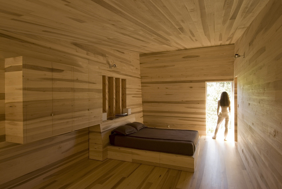 Serene poplar interiors make you stay forever in this for Room design wood